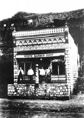 1912 barber shop, now Chase Creek Marketplace